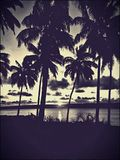 Adembenemende zonsondergang Stock Fotografie