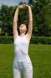 Ademhalings oefening Stock Foto