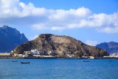 ADEN, DER JEMEN - DECSEMBER 21: Anziehungskraft Aden - beweglichen Betreiber auf dem Felsen am 21. Dezember 2014 in Aden annoncie Stockbild