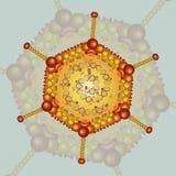 Adeno virus Bakgrund 10 eps Arkivfoto
