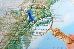 Aderência do mapa de New York Imagem de Stock