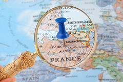 Aderência do mapa de Paris Fotos de Stock