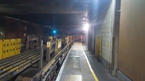Aderências do trem sob a ponte Fotos de Stock