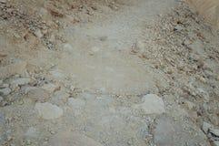 Adern des Felsens im Naturreservat Ein Qetura nahe Elat Lizenzfreie Stockfotografie