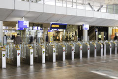 Aderpressen an Rotterdam-Hauptbahnhof Lizenzfreie Stockbilder