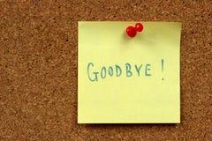 Adeus Foto de Stock Royalty Free