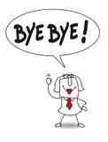 adeus ilustração do vetor