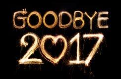 Adeus 2017 Imagens de Stock Royalty Free