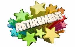 Adeus da aposentadoria que vai afastado estrela do término do emprego Foto de Stock