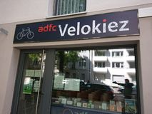 ADFC Velokiez, asociación alemana de los ciclistas fotos de archivo