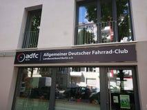ADFC Velokiez, asociación alemana de los ciclistas imágenes de archivo libres de regalías