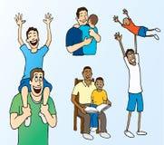 Adhérence de père et de fils illustration libre de droits