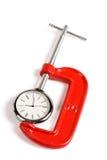Adhérence et horloge d'étau Image stock