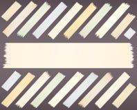 Adhésif de taille, horizontal et diagonal différent Photographie stock libre de droits