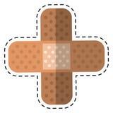 Adhésif médical de bandage de plâtre de bande dessinée Photo libre de droits