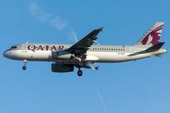 A7-ADH Qatar Airways , Airbus A320 - 200 Royalty Free Stock Photos