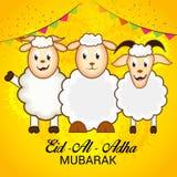Adha Mubarak del al de Eid Fotos de archivo libres de regalías