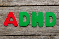 ADHA-Wort Lizenzfreie Stockfotografie