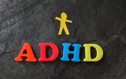 ADHD纸孩子 库存照片