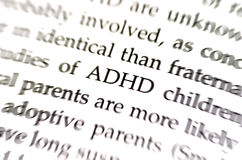 ADHD Lizenzfreies Stockbild