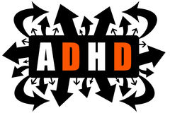ADHD. Confusion concept (Attention Deficit Hyperactivity Disorder Stock Photos