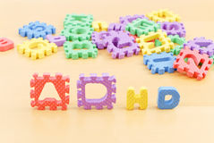 ADHD in Children. Shown With Letter Toys Stock Photo