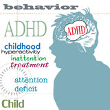 ADHD concept Royalty Free Stock Photography