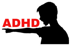 ADHD concept Royalty Free Stock Photo