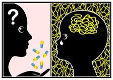 ADHD-Medicijn ja of Nr stock illustratie