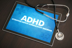 ADHD (neurological disorder) diagnosis medical concept on tablet Stock Photo