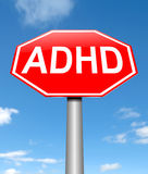 ADHD pojęcie Fotografia Royalty Free