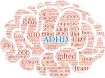 ADHD-Wort-Wolke Stockfoto