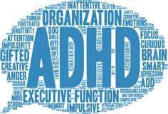 ADHD-Wort-Wolke Lizenzfreie Stockfotografie