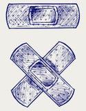 Adhesive bandage. Doodle style. Vector Royalty Free Stock Photography