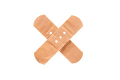 Adhesive Bandage as Cross Sign Royalty Free Stock Photography