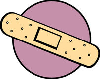 Adhesive bandage or bandaid medical tape vector Royalty Free Stock Image
