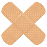 Adhesive Bandage Cross Stock Image