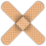 Adhesive bandage in form of medical cross Royalty Free Stock Image