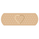 Adhesive bandage with love Royalty Free Stock Image
