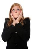 adhesive bandage mouth over woman στοκ φωτογραφίες με δικαίωμα ελεύθερης χρήσης
