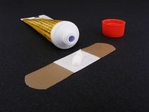 Adhesive Bandage & Ointment royalty free stock images