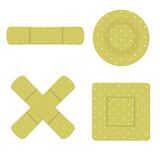 Adhesive bandage plaster Stock Image