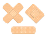 Adhesive bandage set Royalty Free Stock Images