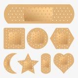 Adhesive Bandage Set. Vector set of adhesive bandage illustrations Stock Photo