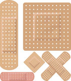 Adhesive bandages. Plasters sticky various Stock Photos