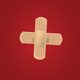 Adhesive Bandages. Illustration of an adhesive bandage Stock Photography