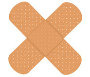 Adhesive bandages. Two Adhesive bandages isolated on  white background Royalty Free Stock Photo