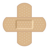 Adhesive bandages forming a cross Stock Photos