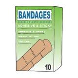 Adhesive Bandages. Generic Adhesive Bandages Box Concept Stock Photo