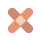 Adhesive bandages icon. Adhesive bandages over white background. colorful design. vector illustration Stock Images